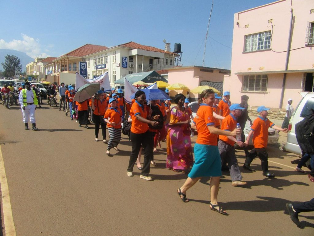 EOC Celebrants march through the streets of Mbale