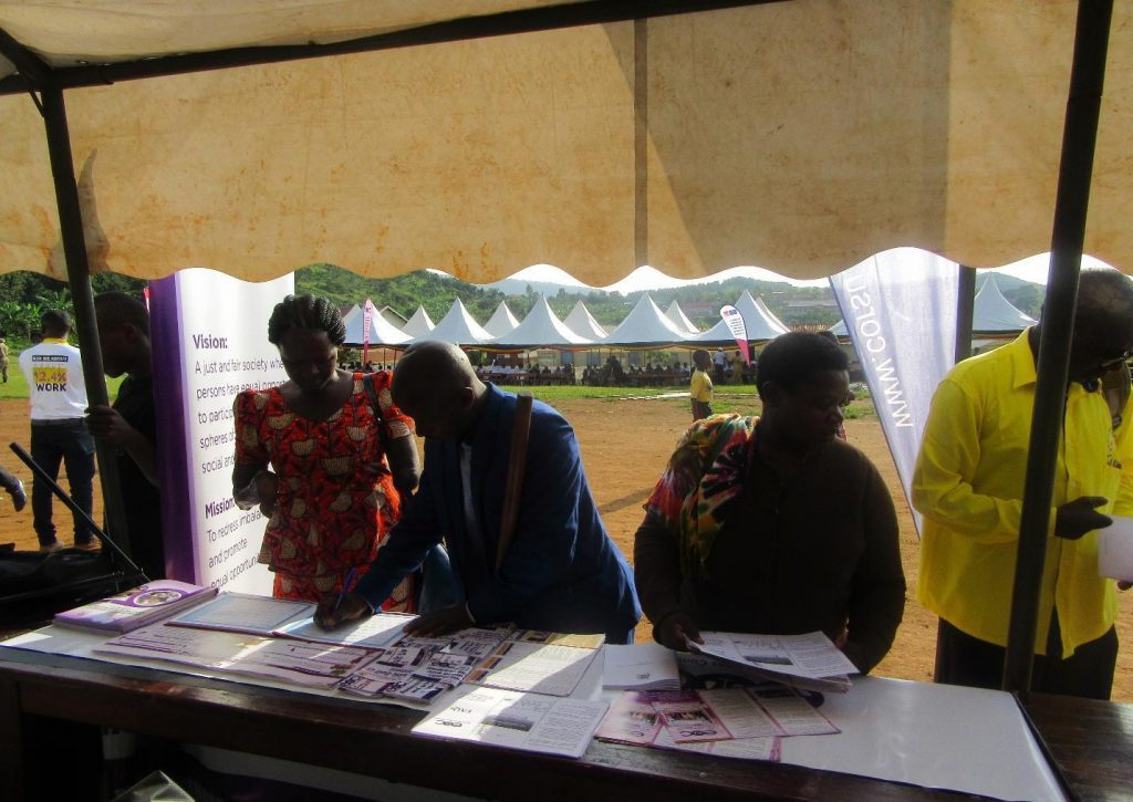 Guests visiting the EOC exhibition stall