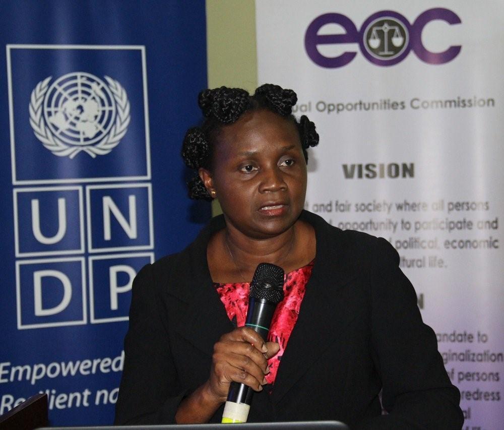 Ms. Annet Mpabulungi Wakabi, Team Leader Governance, UNDP speaking at the event